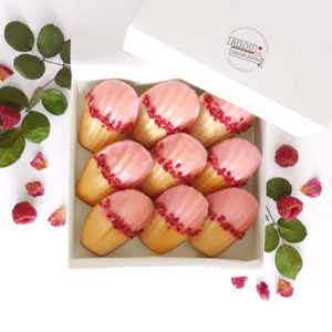 bisou box paris vanilla madeleine rose water raspberries