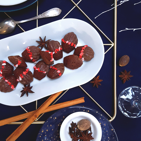 christmas cocoa spices strawberry mini madeleine