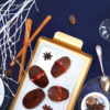 christmas cocoa spices strawberry madeleine
