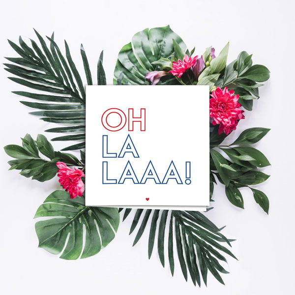 greetings card oh la la french quote