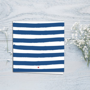 greetings card french stripes