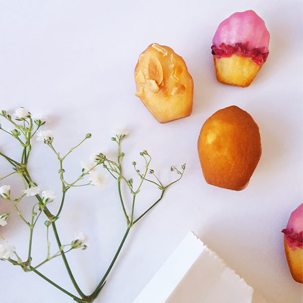 mothers mother day madeleines cakes almond rose elderflower