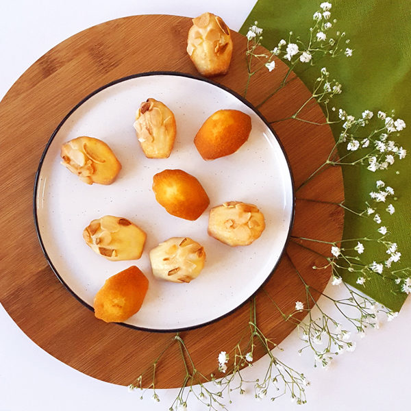 mothers mother day mini madeleines cakes almond elderflower