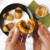 easter madeleines french cakes chocolate vanilla spread stuffed